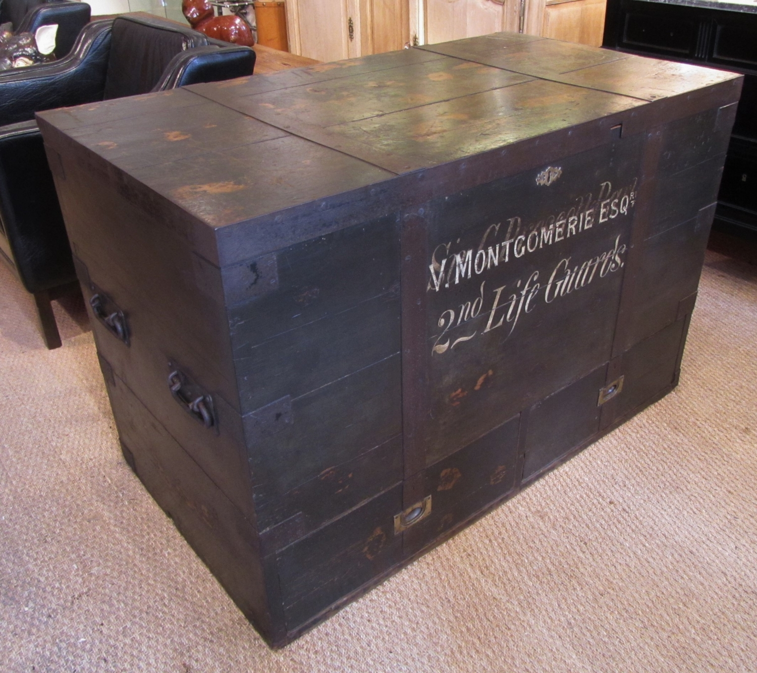A large military trunk