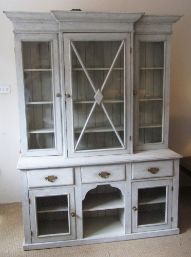 A painted pine dresser