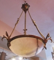 An Alabaster and bronze ceiling light - picture 2