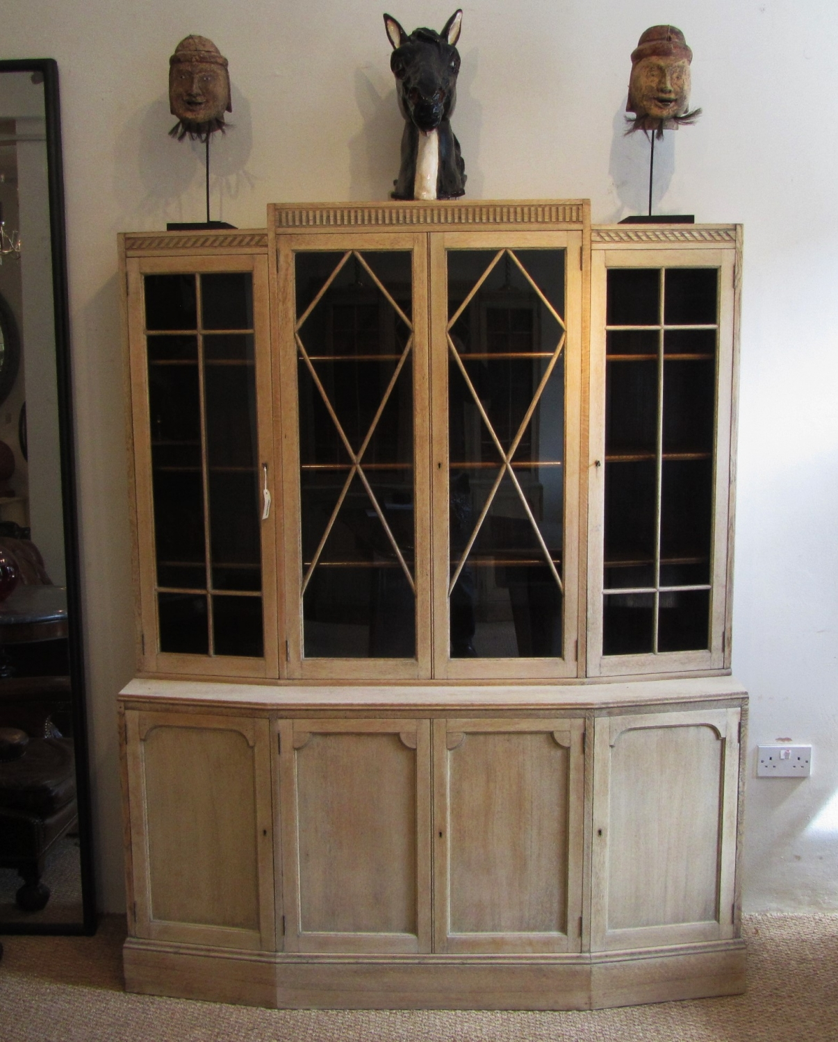 A pair of bookcases