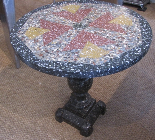 A Terrazzo occasional table