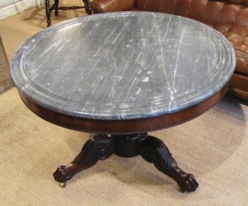 A marble top Gueridon