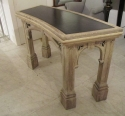 A curved oak Gothic side table - picture 2