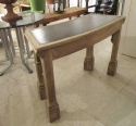 A curved oak Gothic side table - picture 3