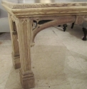 A curved oak Gothic side table - picture 5