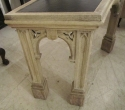 A curved oak Gothic side table - picture 6