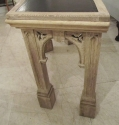 A curved oak Gothic side table - picture 7