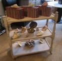 A bleached oak trolley/buffet - picture 3