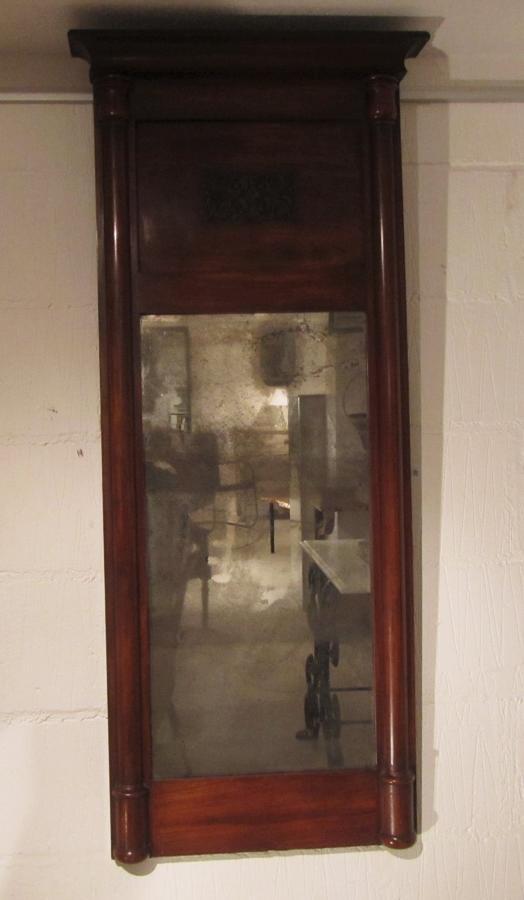 A Mahogany pier mirror