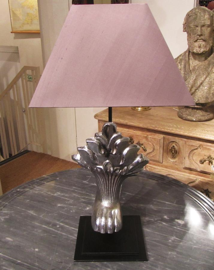 A pair of nickel lamps