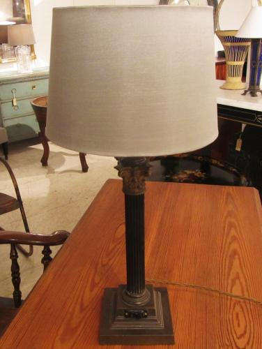 A column lamp