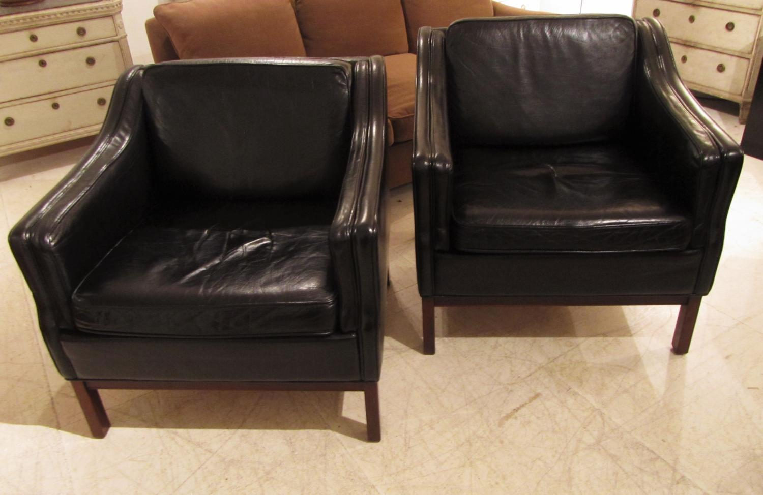 A pair of Mogensen leather armchairs