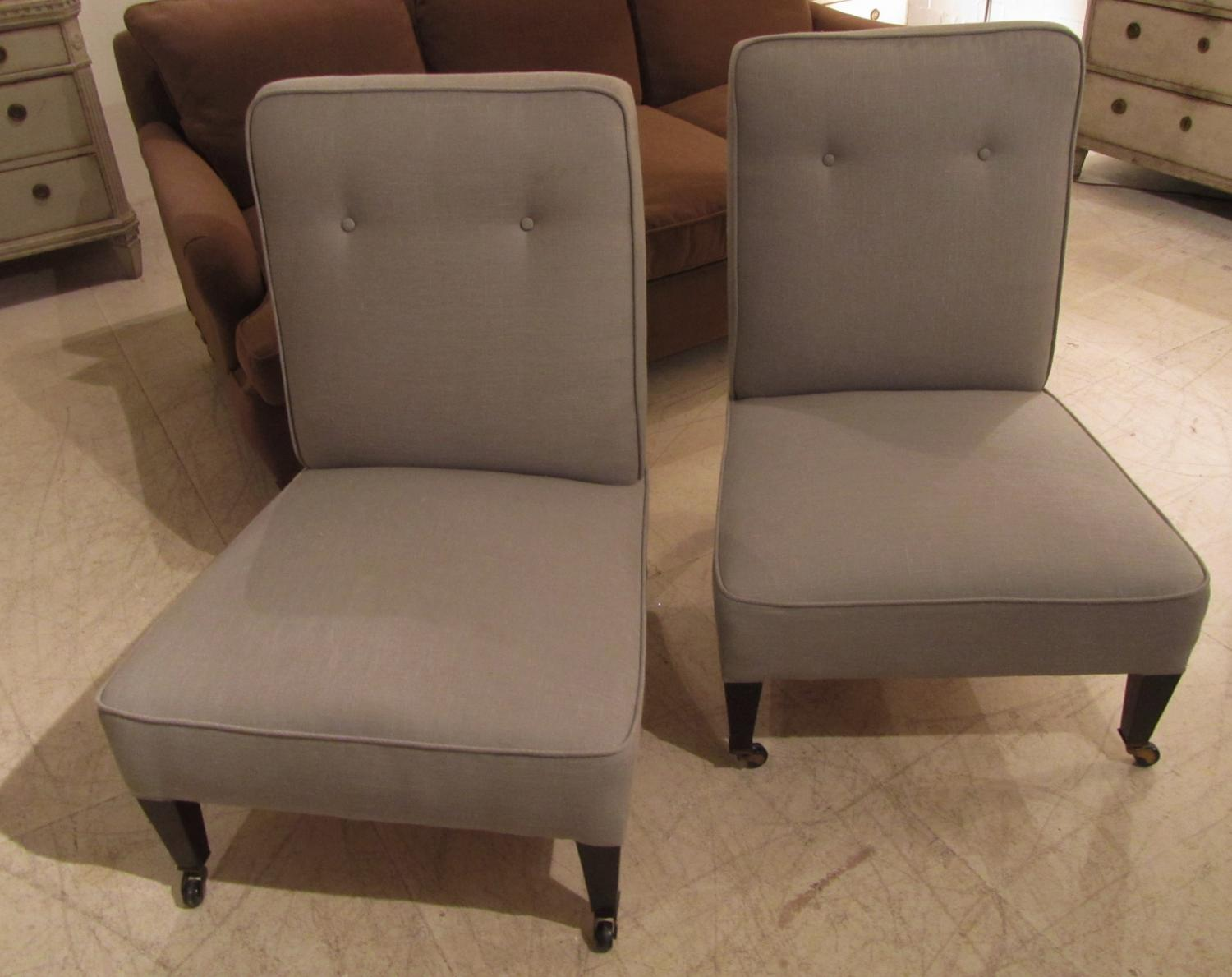 A pair of sidechairs