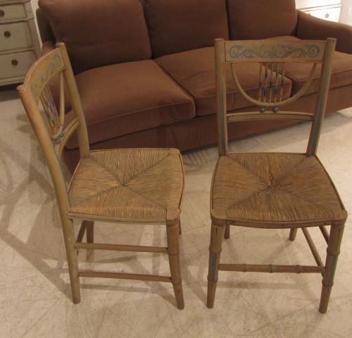 A pair of regency side chairs