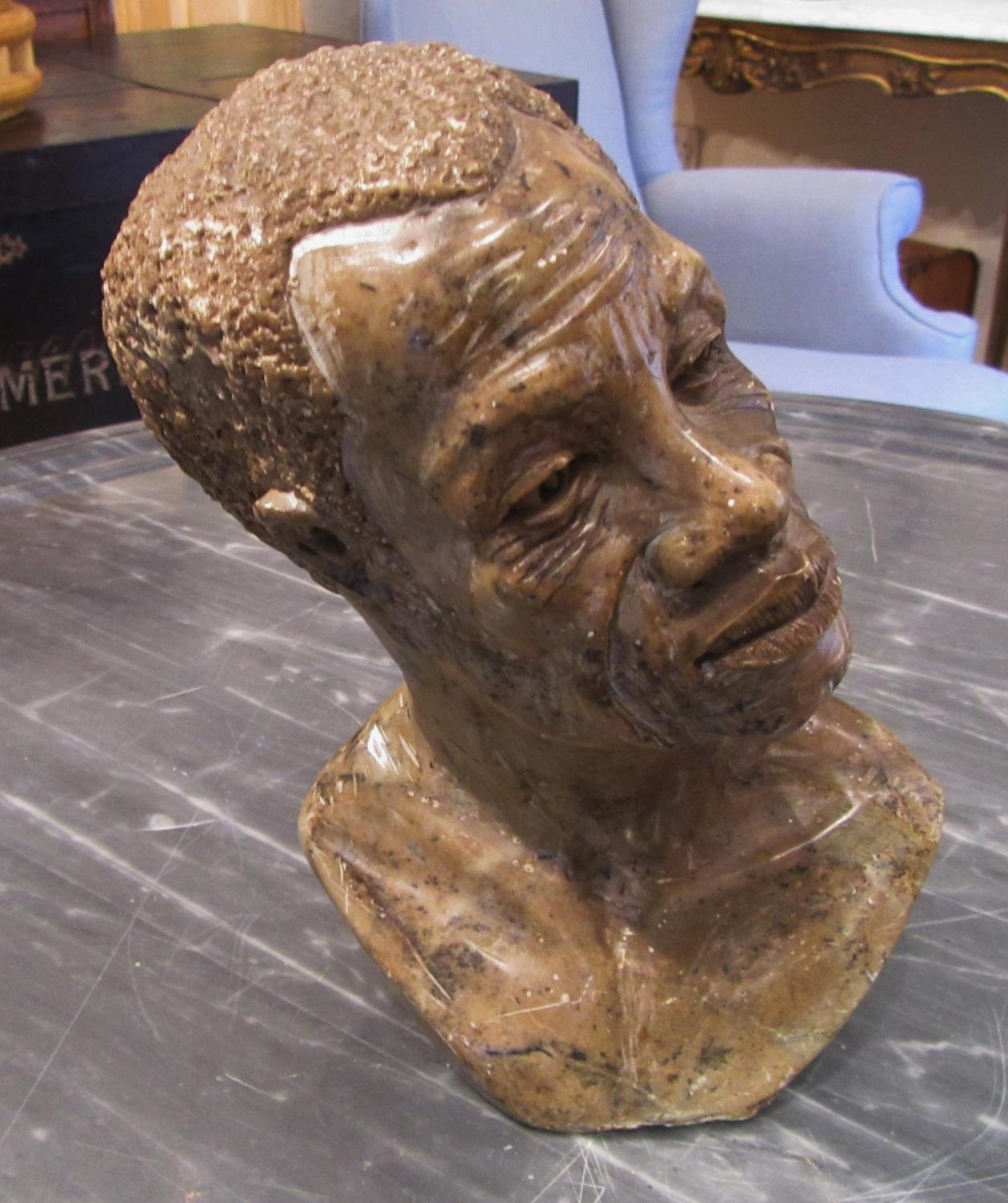 A soap stone bust