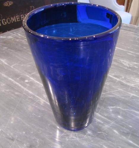 A Bristol blue vase