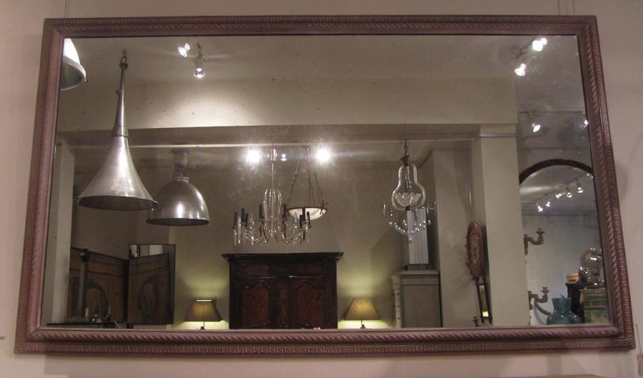 A large 19thC mirror