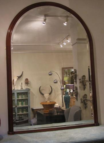 A large 19thC Mahogany mirror