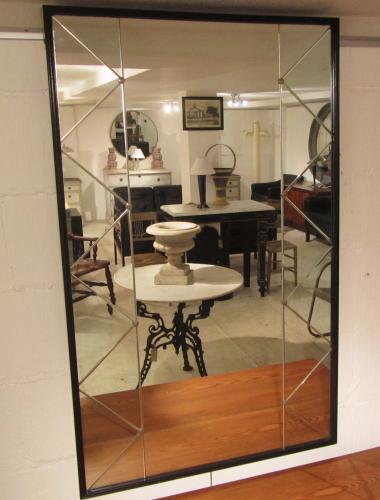A trellis panelled mirror