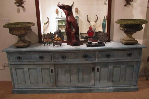 A large painted pine sideboard