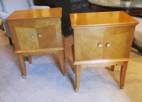 A pair of side cabinets