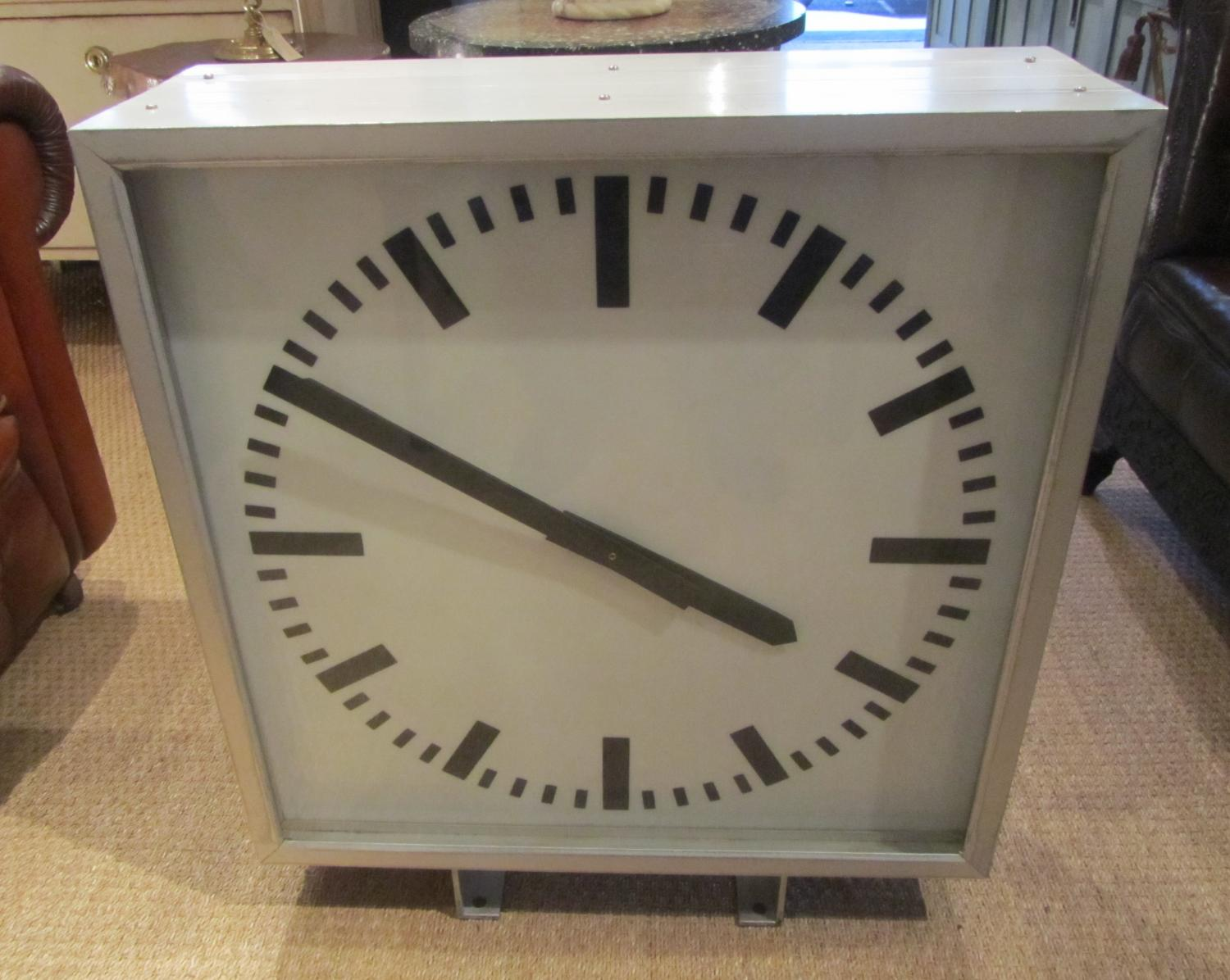 A large double sided clock