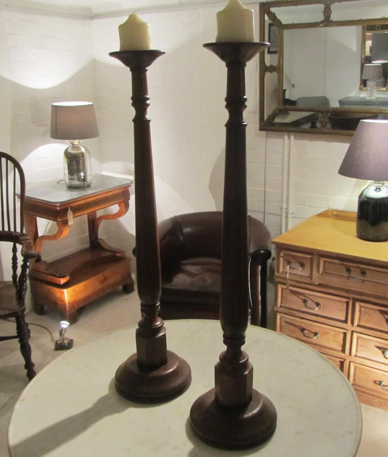 A large pair of candlesticks