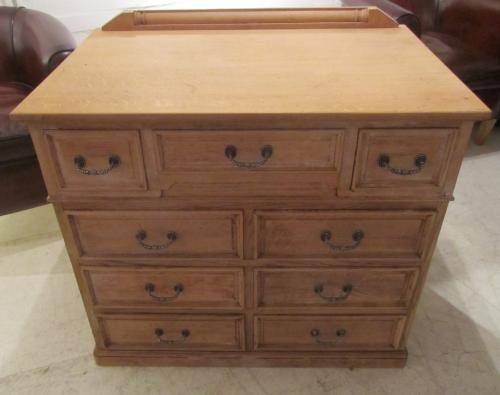 A 19thC ships chest of drawers