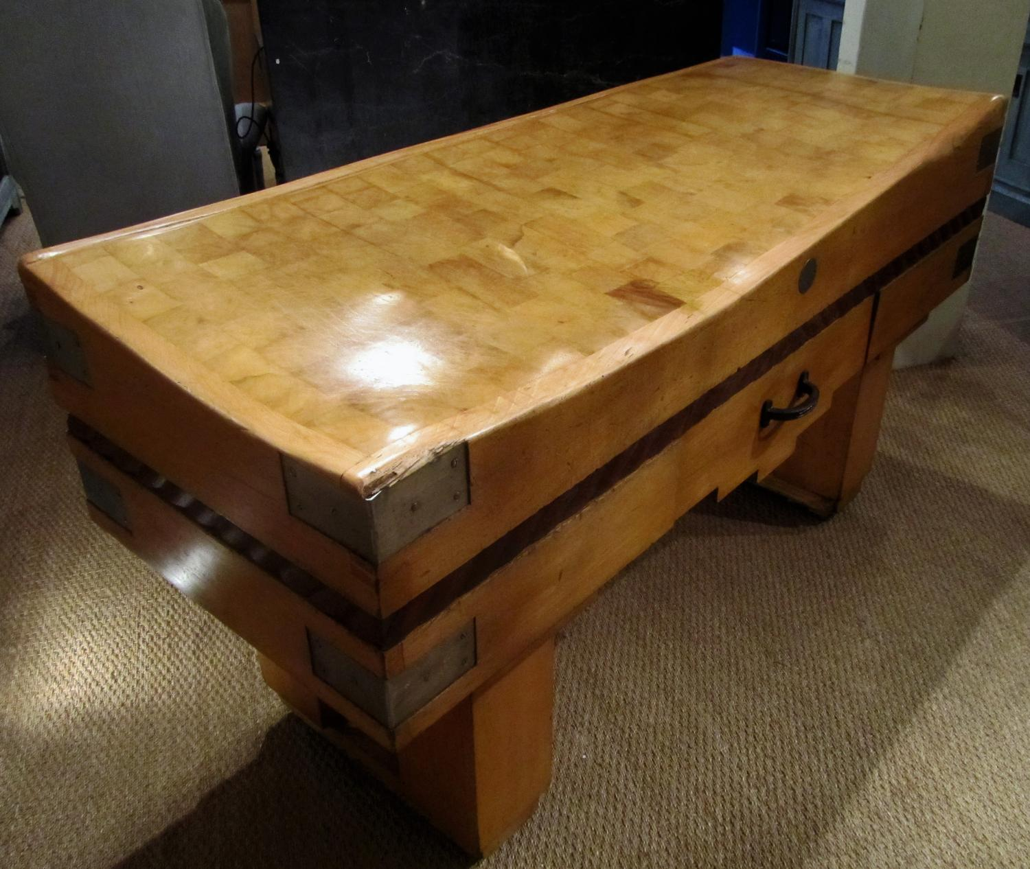 A large butchers block