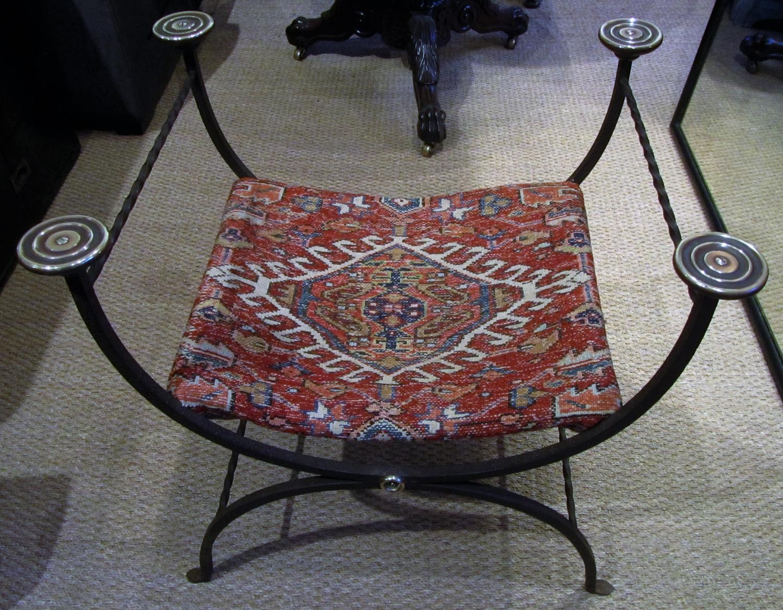A Roman style X frame stool