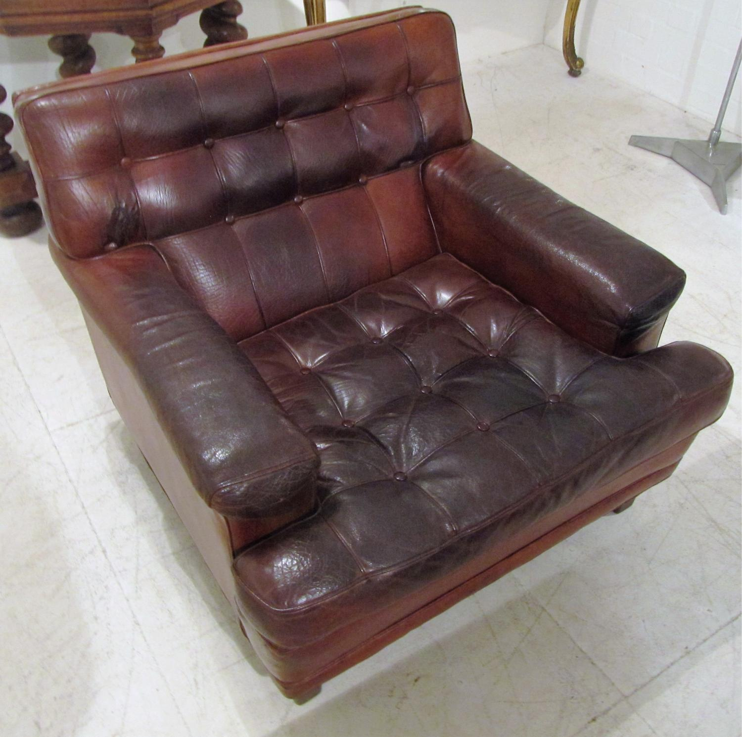A single leather armchair