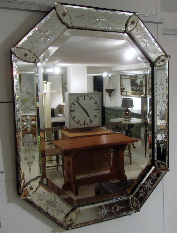 A pair of 19thC venetian mirrors