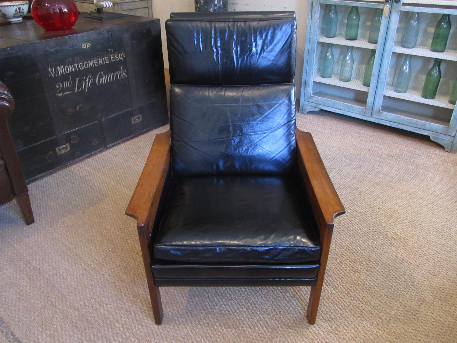 A Danish leather chair