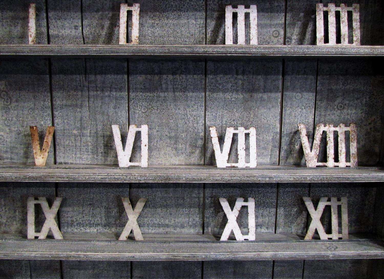 A set of Garden clock numerals