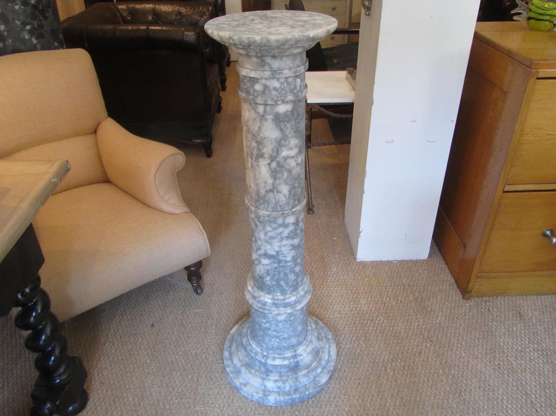 An Alabaster pedestal column