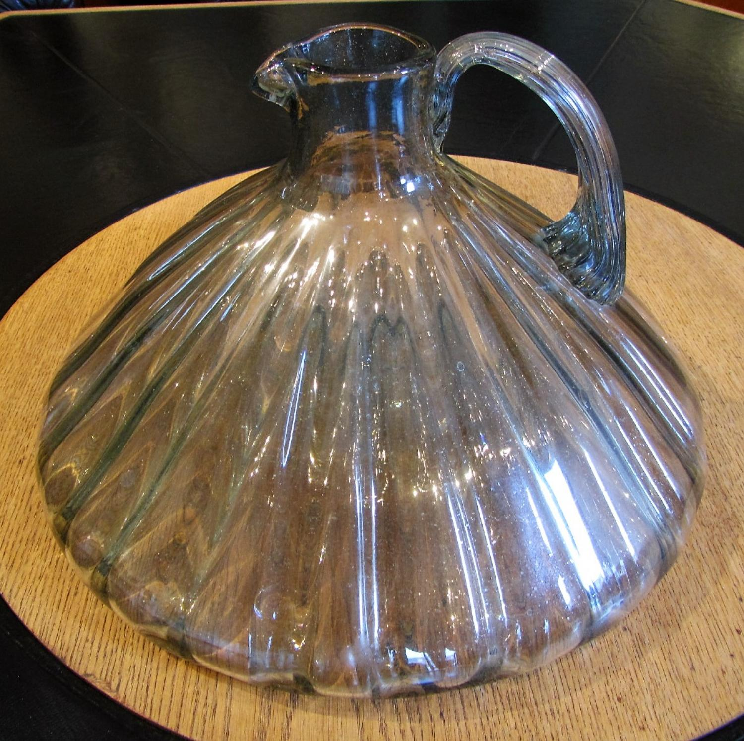 Murano glass ships decanter jug