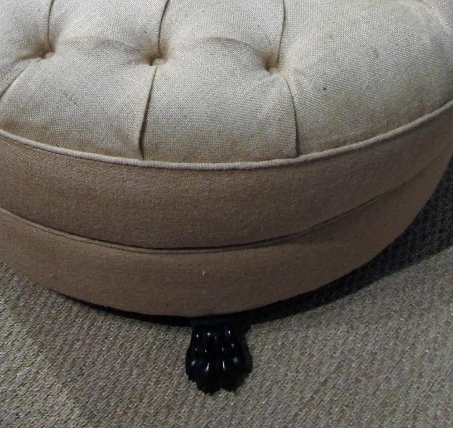 a large round foot stool ottoman picture 2
