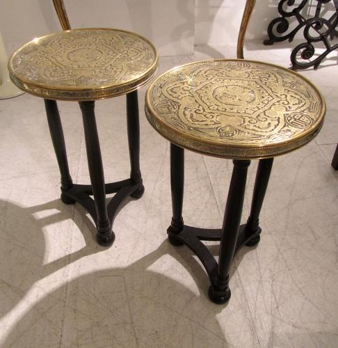 A pair of arts and crafts tables