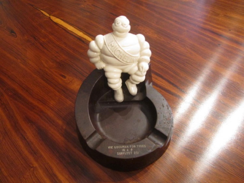 A Michelin man advertising ashtray desk tidy