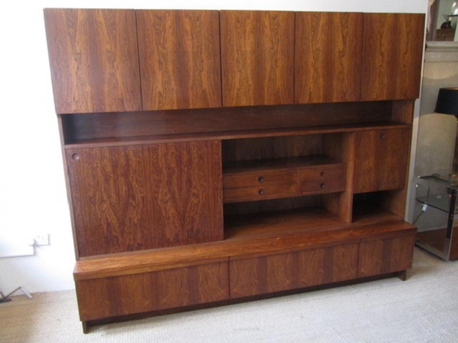 A rosewood bookcase cabinet