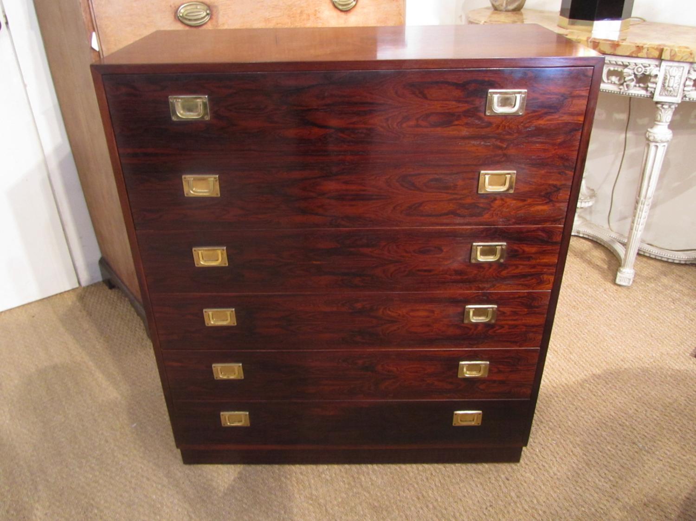 A rosewood secretaire bureau