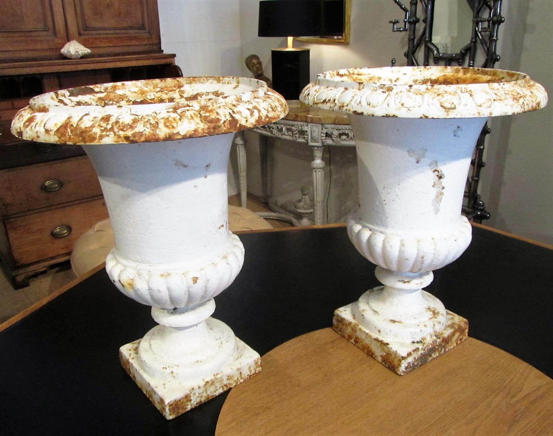 A pair of campana urns