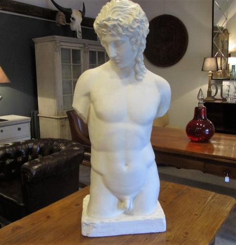 A plaster sculpture of Adonis