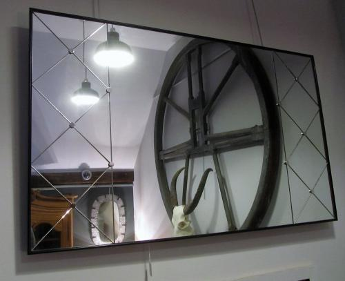 A Swedish panelled mirror