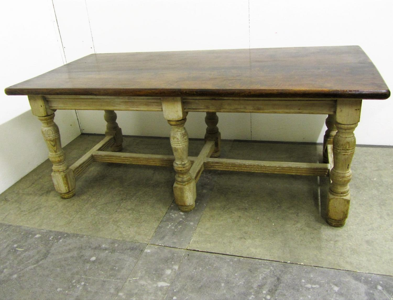 A 19thc Oak pantry/kitchen  table