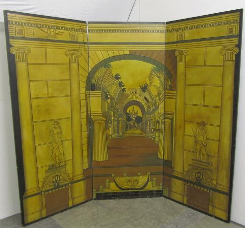 A trompe l'oeil folding screen