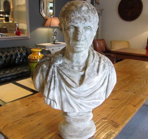 A bust of a roman emperor