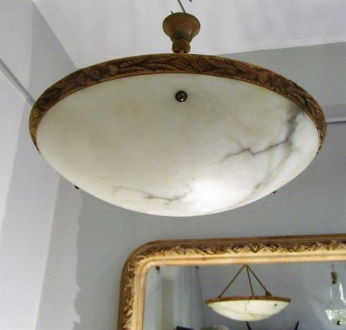 An Alabaster ceiling light