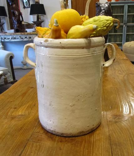 An earthenware anchovy salting pot