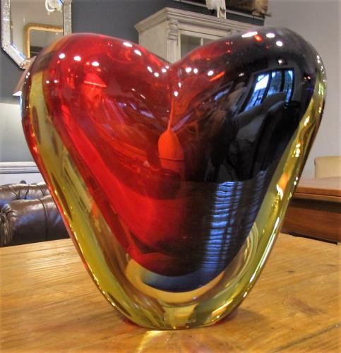 A murano art glass vase